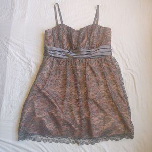 Torrid Pink and Grey Lace Party Dress 20